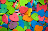 """Wood Hearts 2""""x2""""x1/4"""" Thick"""